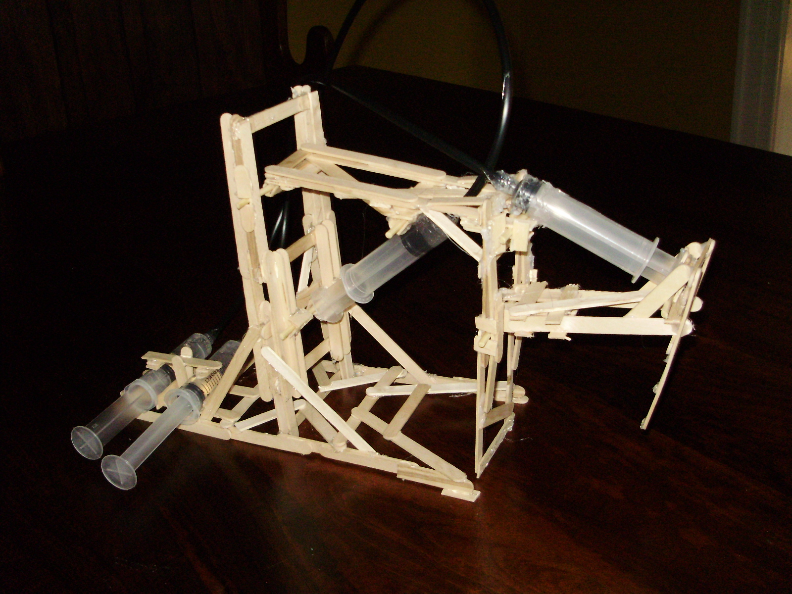 Hydraulic Arm With Popsicle Sticks : Buildits popsicle stick hydraulic arm