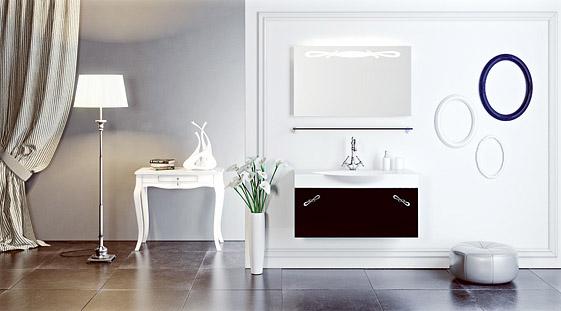 Сантехника на фото: мебель Aqwella Palermo для ванной комнаты