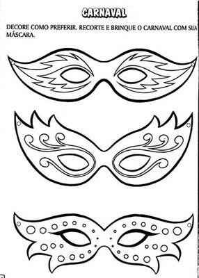 diy handmade karnawa owe maski do druku. Black Bedroom Furniture Sets. Home Design Ideas