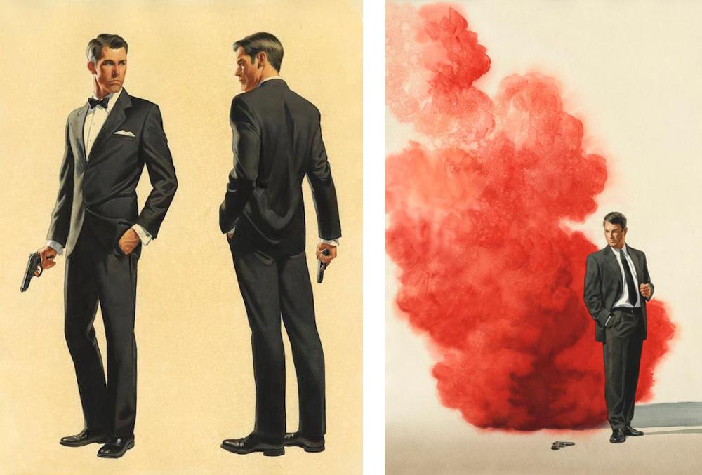 James Bond Book Cover Art : Illustrated the art of james bond august