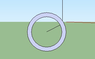 Cara membuat pipa dengan menggunakan Google SketchUp-3