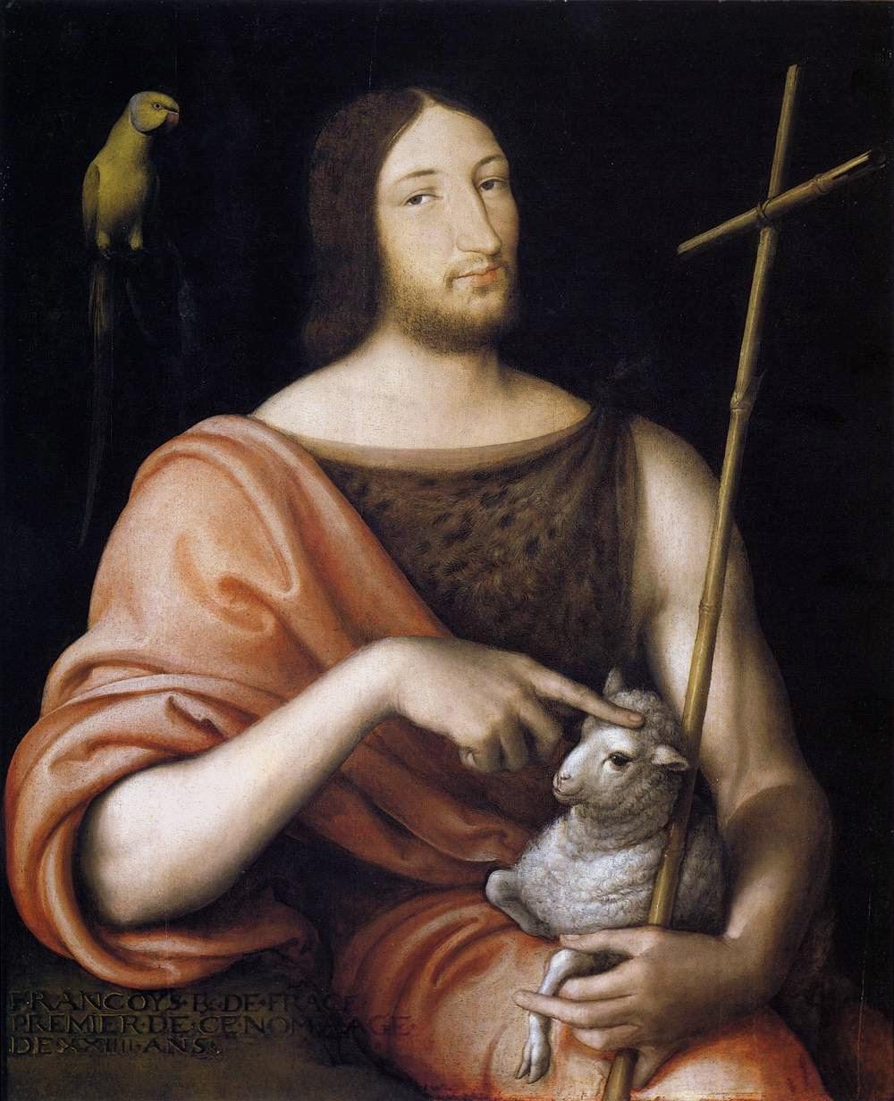 Франциск I в образе Иоанна Крестителя