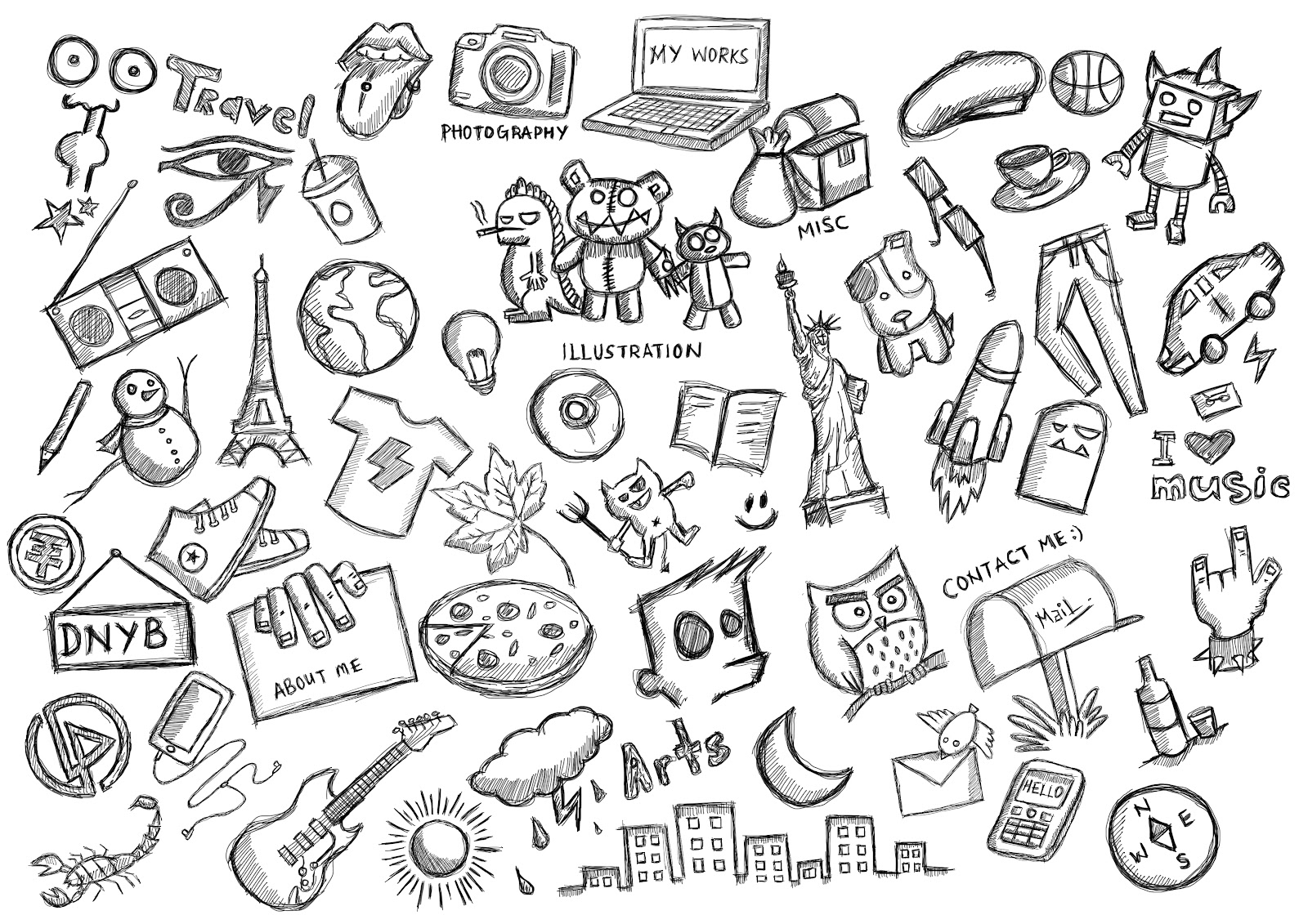 how to draw simple doodles