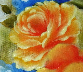 pintura em tecido rosa amarela