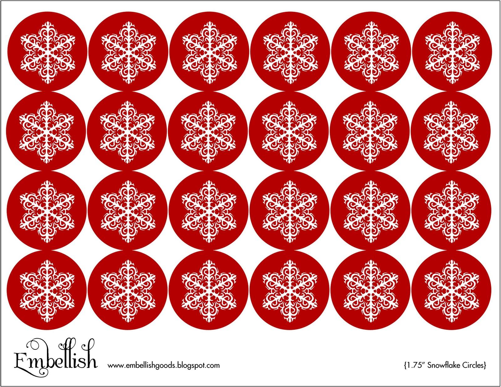 embellish   free printable  snowflake circles