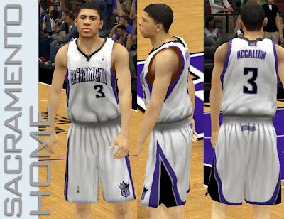 NBA 2K13 Sacramento Kings Home Jersey