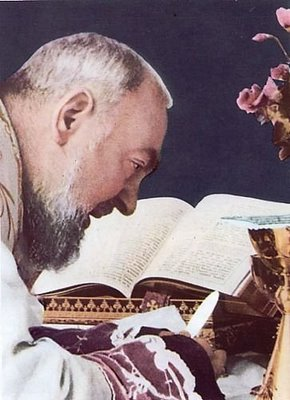"""""""É loucura fixar o olhar no que rapidamente passa"""". Padre Pio"""