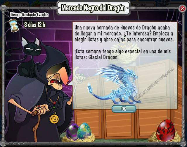 imagen del dragon glacial en el mercado negro del dragon