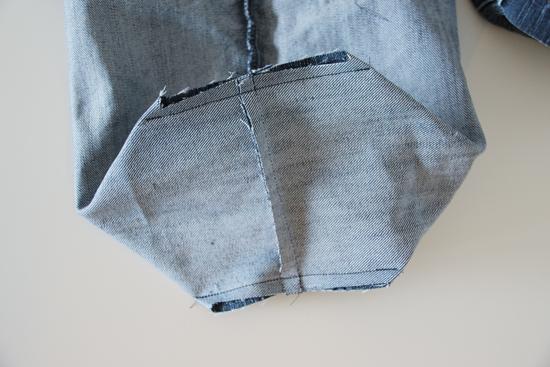 binedoro Blog, Stoffutensilo nähen, Blumenübertopf, DIY, Jeans, Upcycling