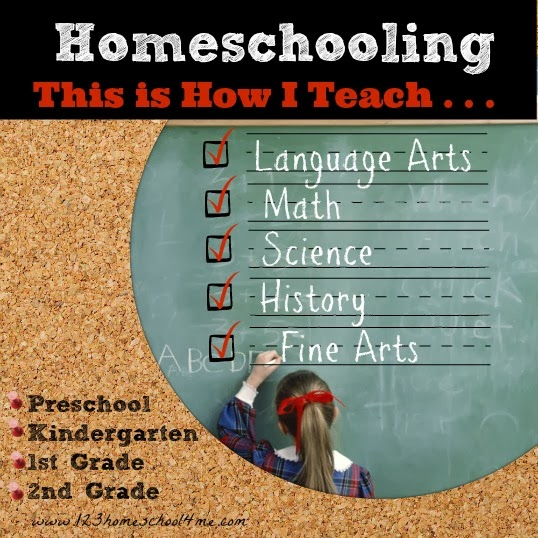 Homeschooling - This is how I teach Preschool , Kindergarten, 1st grade, 2nd grade