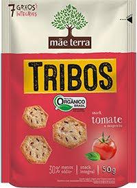 Tribos Snack Orgânico Tomate e Manjericão 50g - Mãe Terra