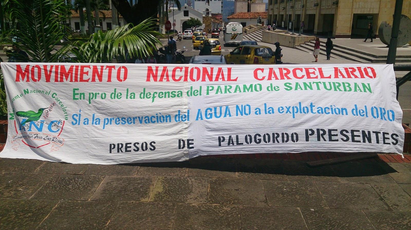 PRESOS DE PALOGORDO Y MOVIMIENTO NACIONAL CARCELARIO APOYAN MARCHA POR EL AGUA