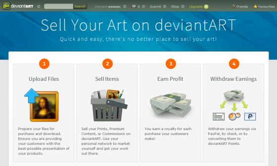 DevianArt - Gana dinero con tus dibujos y pinturas