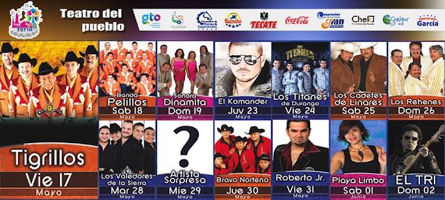 Teatro del pueblo y artstas de la Feria Valle de Santiago 2013