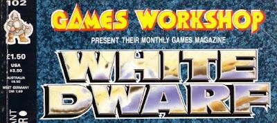 Logotipo de la White Dwarf a partir del número 100