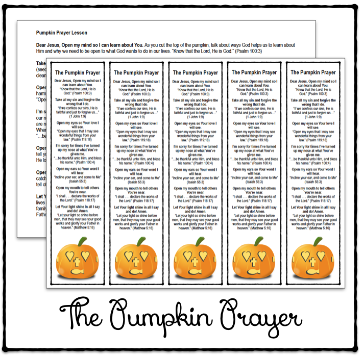 Dramatic image intended for pumpkin prayer printable