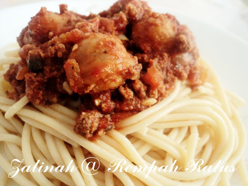 Rempah Ratus: Spaghetti Bolognese Bebola Daging