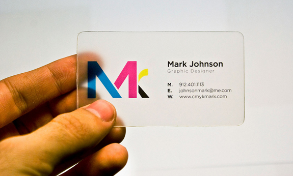 you want some creative business cards for yourself no problem lets check it out these clear plastic business cards designs more images after the break - Business Card Design Ideas
