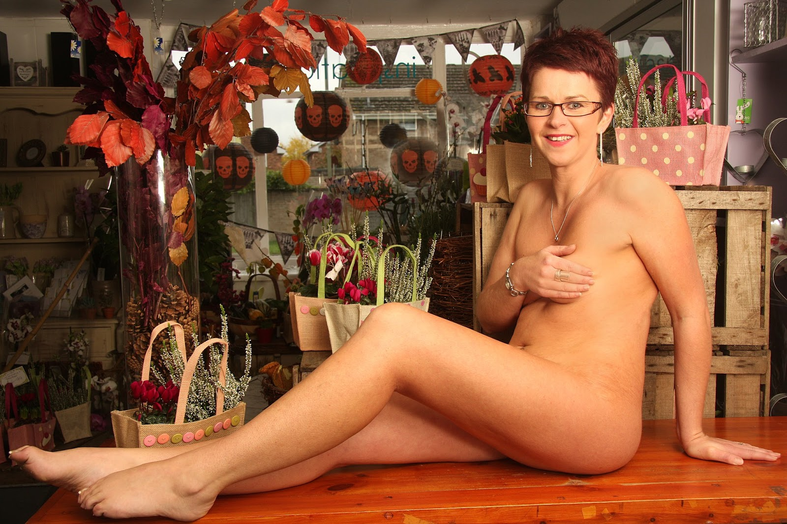 Keri Harvey The Florist Naked Charity Calendar