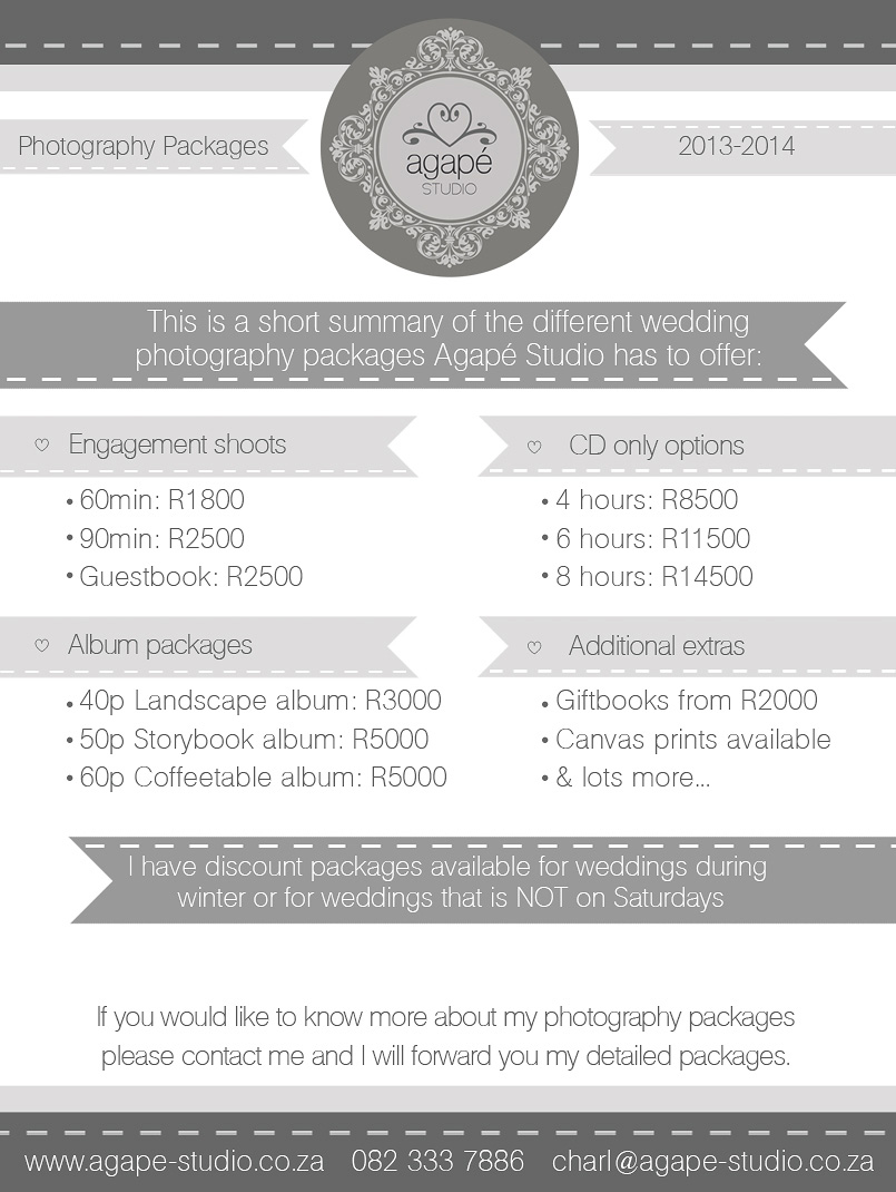 Western Cape Wedding Packages 2013 2014