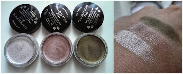 Bourjois creme shadows and swatched