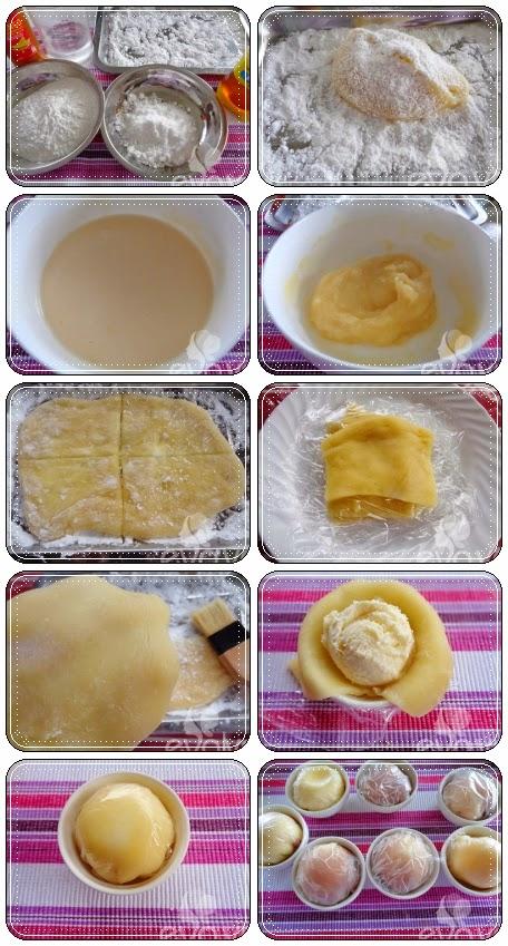 Bánh trung thu kem lạnh Nhật Bản tự làm tại nhà1