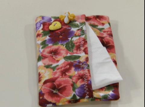 Porta-lenço de tecido passo a passo