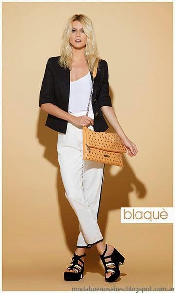 Blaque primavera verano 2014 carteras, zapatos y sandalias.