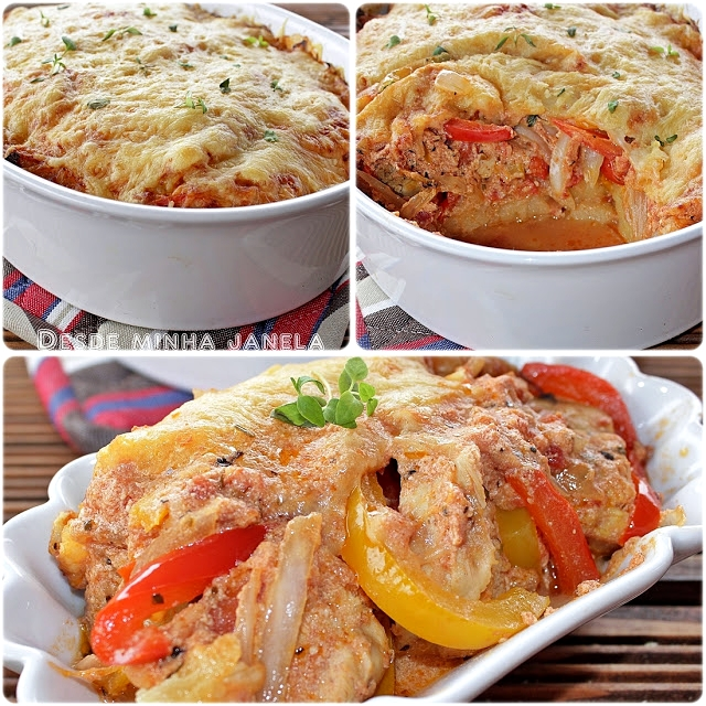 Receita prática de gratinado de frango com batatas
