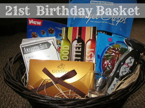 DIY 21st Birthday Basket