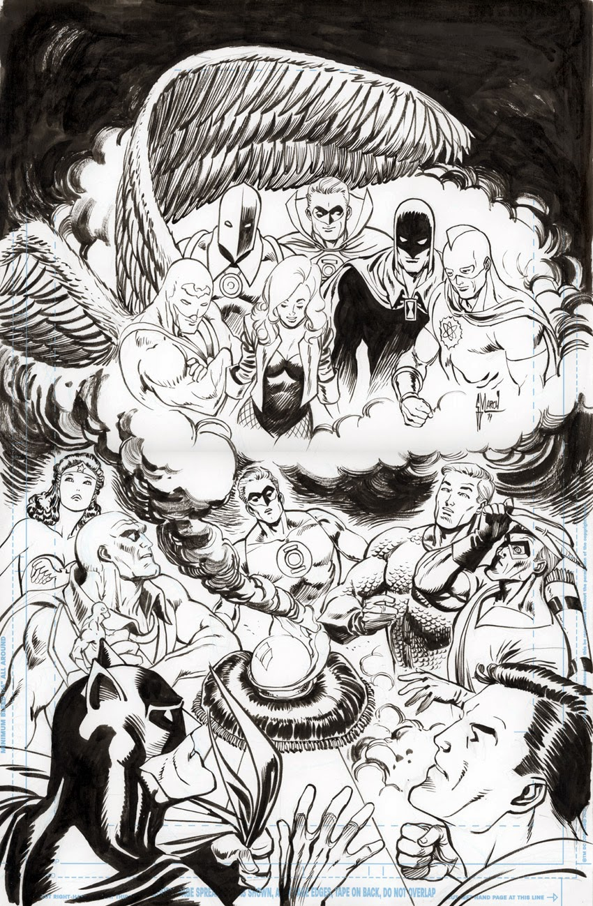 JLA 21 Multiversity variant cover by Guillem March