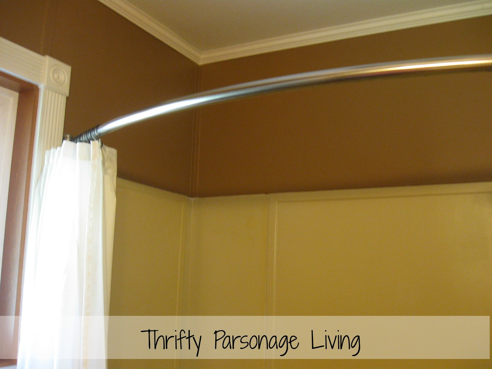 Thrifty Parsonage Living: BATHROOM MAKEOVER & PAINTING PLASTIC WALLS