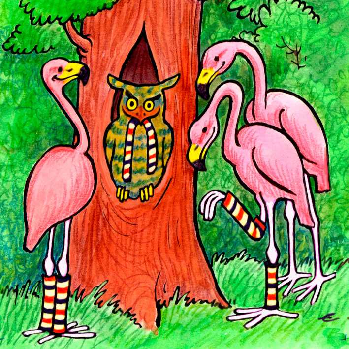 Resultado de imagen para las medias de los flamingos