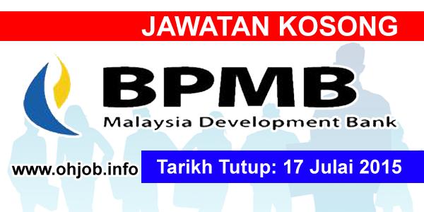 Jawwatan Kerja Kosong Bank Pembangunan Malaysia Berhad (BPMB) logo www.ohjob.info julai 2015