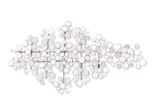 Overstock Upton Home Olivia Mirrored Metal Wall Sculpture
