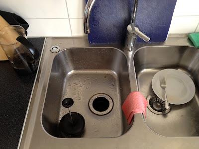 food grinder in kitchen sink