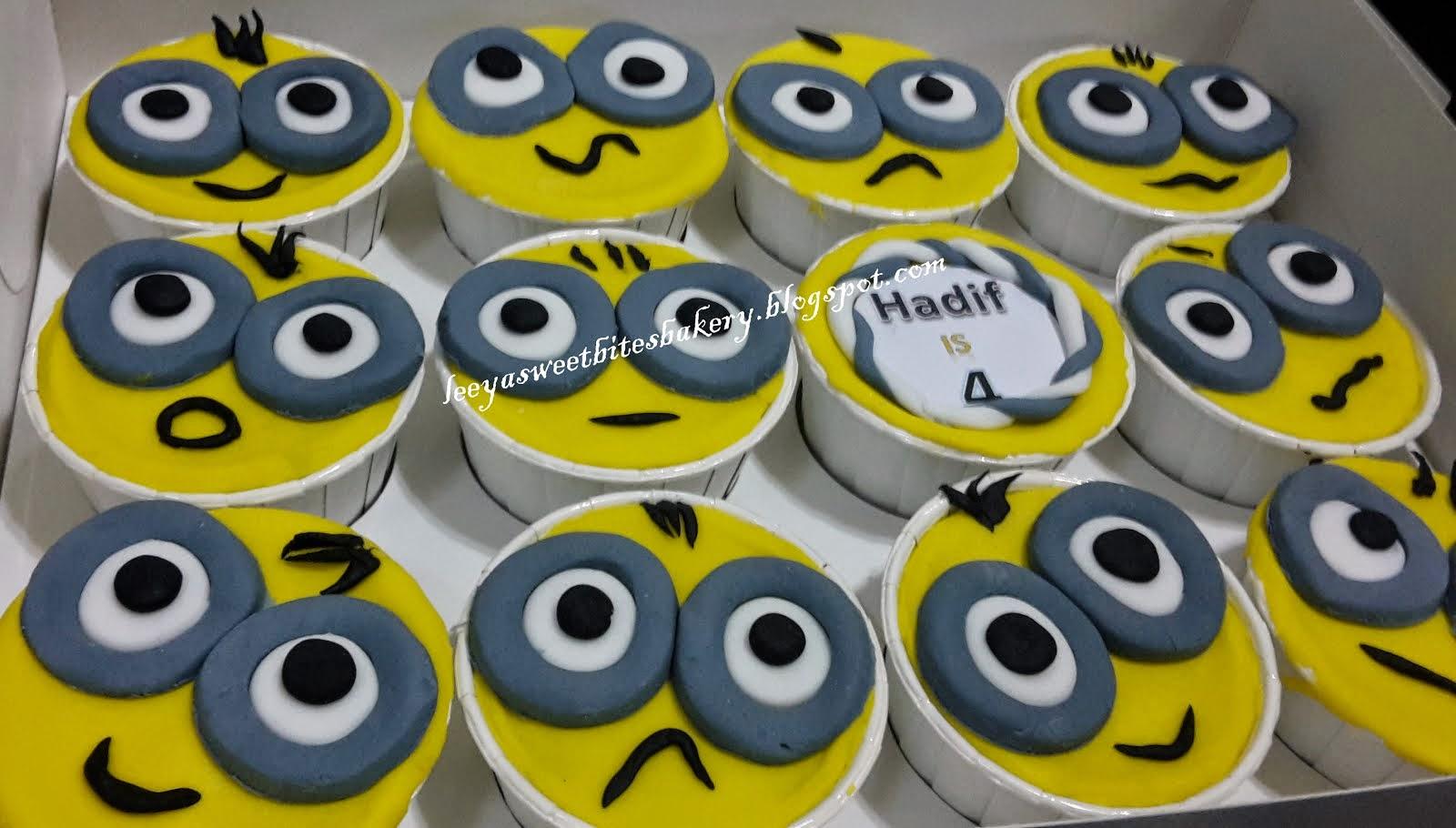 Fondant Minion Cupcakes
