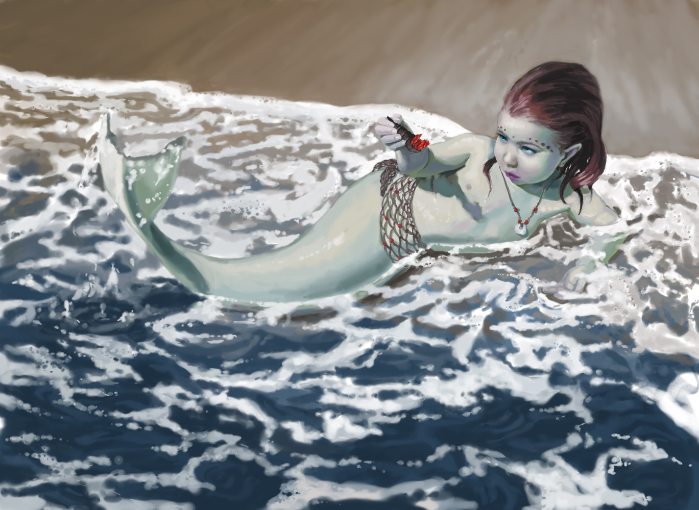 Real mermaids found on beach