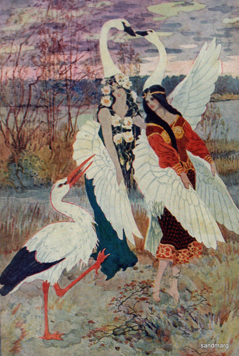 Book Illustration 1926 The Marsh Kings Daughter