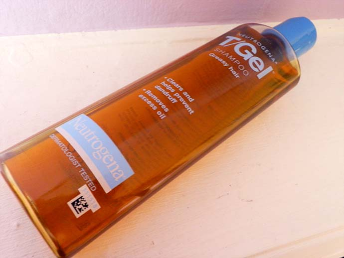 May 2013 favorite hair care: Neutrogena T/Gel Shampoo for greasy hair