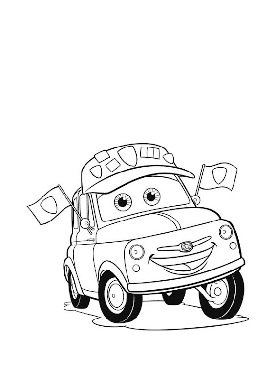 Disney Cars 2 Luigi Coloring PagesCarsPrintable Coloring Pages