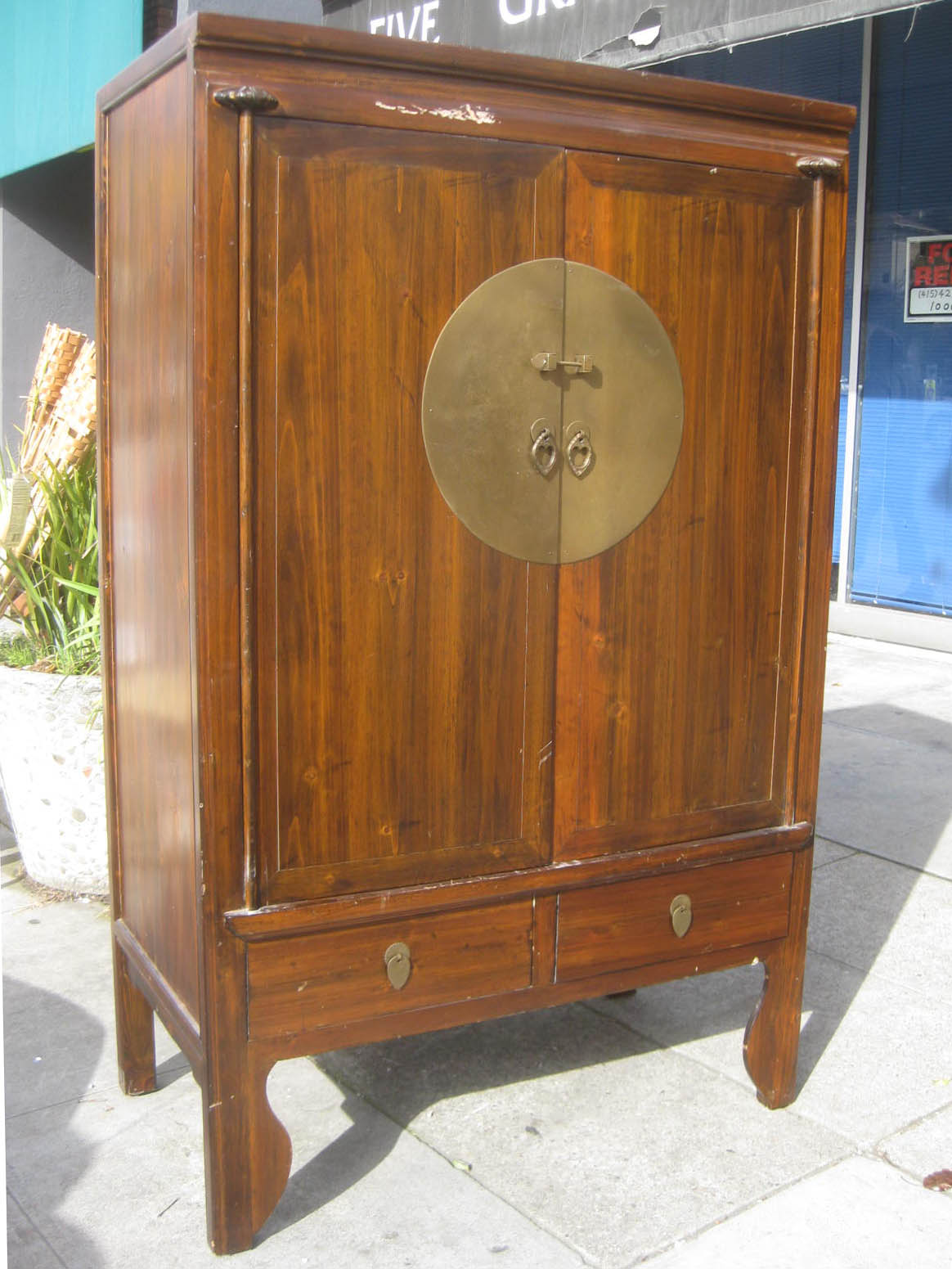 Amazing photo of UHURU FURNITURE & COLLECTIBLES: SOLD Asian TV Armoire $120 with #197DB2 color and 1164x1551 pixels