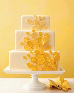 Wedding Cakes with Yellow Details