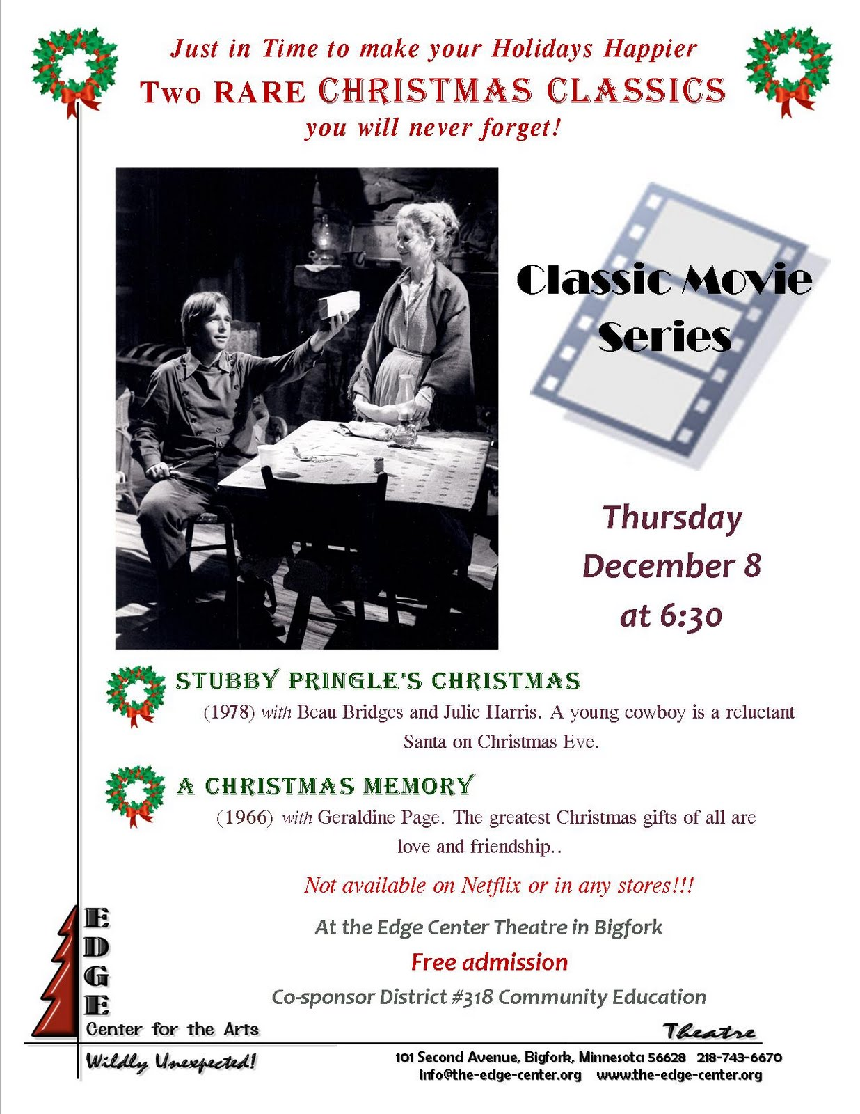 Edge Center for the Arts: At The Edge: See Two Rare Christmas TV ...
