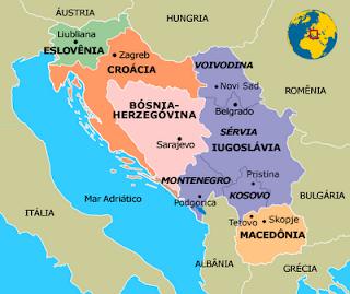 Mapa da antiga Iugoslávia