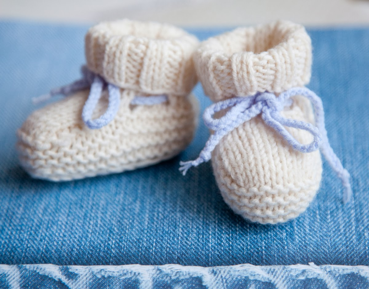 Free Knit Baby Bootie Pattern Easy : Lana creations: Baby Booties Ugg Free Knitting Pattern