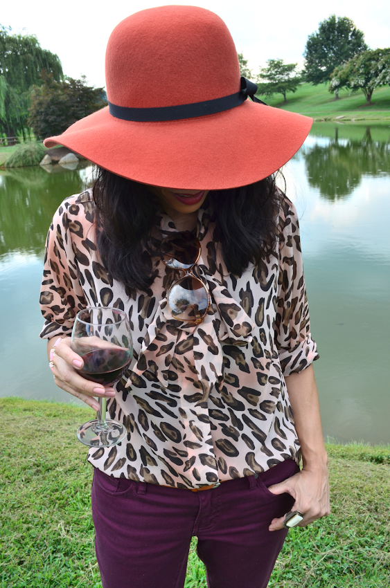 Leopard Blouse Outfit
