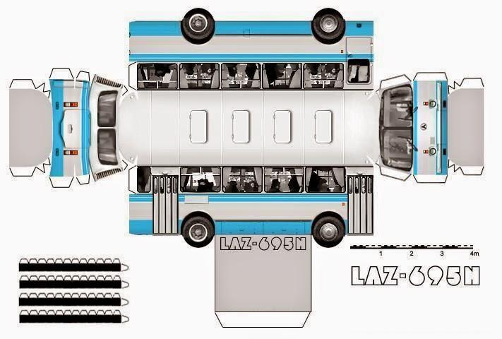Как сделать автобус из картона по схеме 80