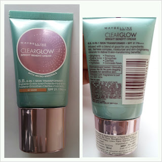 Maybelline clearglow BB Bright Benefit cream