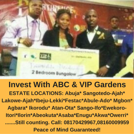 ABC & VIP GARDENS: Operation One Man,One Plot Of Land/Home